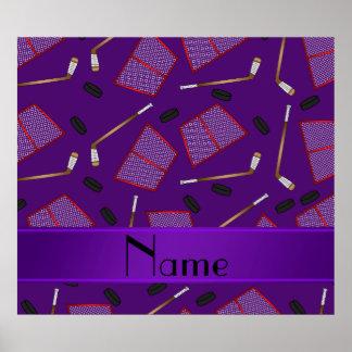 Redes púrpuras conocidas de encargo de los duendes póster
