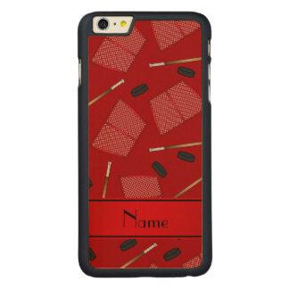 Redes rojas conocidas de encargo de los duendes funda de arce carved® para iPhone 6 plus