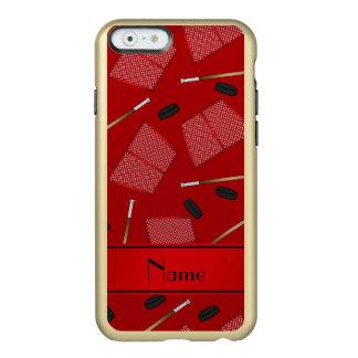 Redes rojas conocidas de encargo de los duendes funda para iPhone 6 plus incipio feather shine