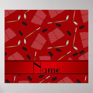 Redes rojas conocidas de encargo de los duendes póster