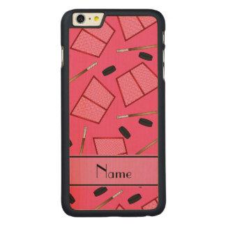 Redes rosadas conocidas de encargo de los duendes funda de arce carved® para iPhone 6 plus slim