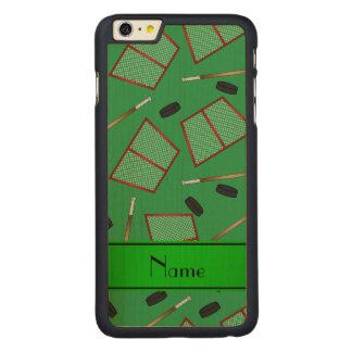 Redes verdes conocidas de encargo de los duendes funda de arce carved® para iPhone 6 plus