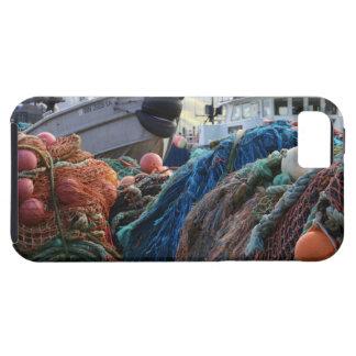 Redes y barcos holandeses de pesca del puerto iPhone 5 funda
