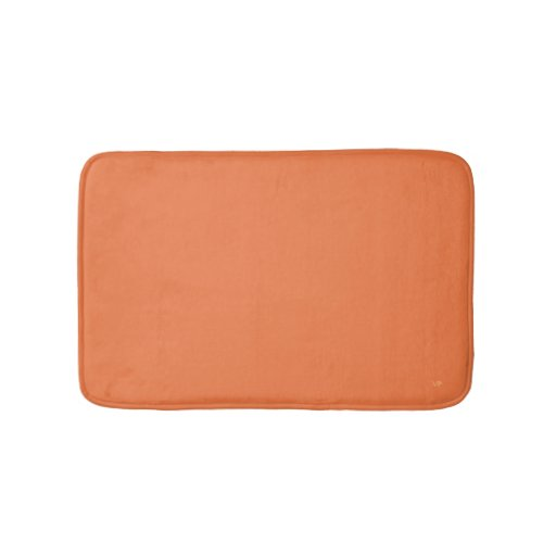Orange Custom Small Bath Mat