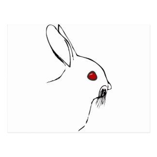 RedEYE Rabbit Postcard