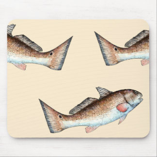 Redfish and Redfish Tails (beige) Mouse Pad