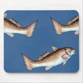 Redfish and Redfish Tails (blue) Mouse Pad