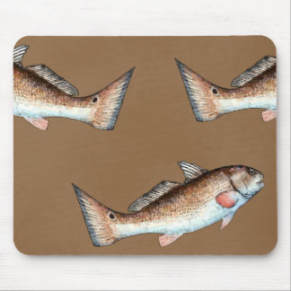 Redfish and Redfish Tails (brown) Mouse Pad