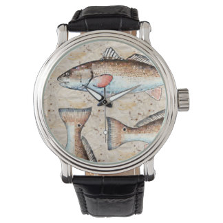 Redfish and tails wrist watch