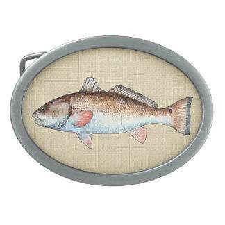 Redfish Oval Belt Buckles