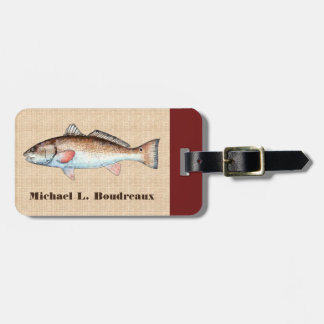 Redfish (Bordeaux Accent 1) Luggage Tag