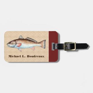 Redfish (Bordeaux Accent 1) Travel Bag Tag