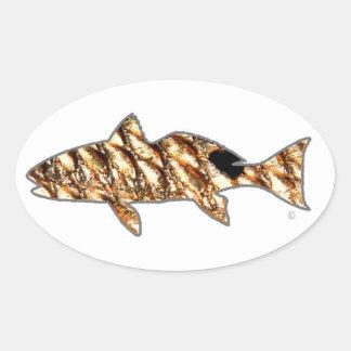 Redfish by Patternwear© Oval Sticker