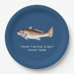 Redfish Fishing Event 9 Inch Paper Plate