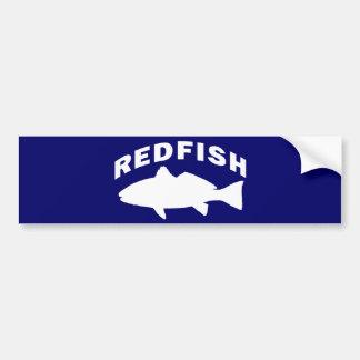 Redfish Fishing Logo Bumper Sticker