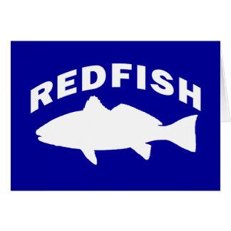 Redfish Fishing Logo Card