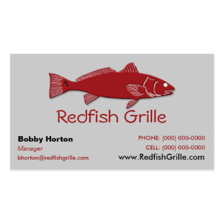Redfish Grille Business Card