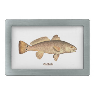 Redfish Logo Rectangular Belt Buckle