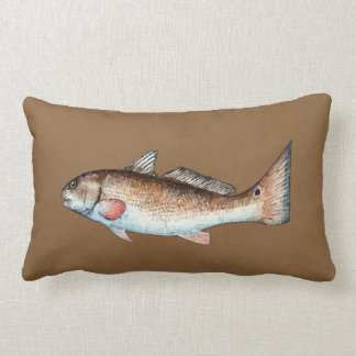 Redfish on Brown Pillow