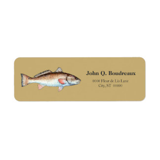 Redfish On Gold Label