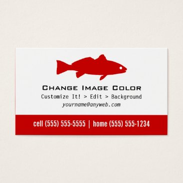Professional Business Redfish - Personal Business Card