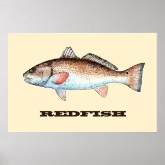 Redfish Poster (Beige)