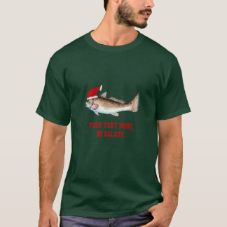 Redfish Santa Hat Christmas T-Shirt