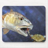 Redfish Strike Mouse Pad