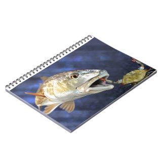 Redfish Strike Spiral Notebook