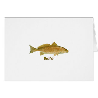 Redfish (titled) greeting card