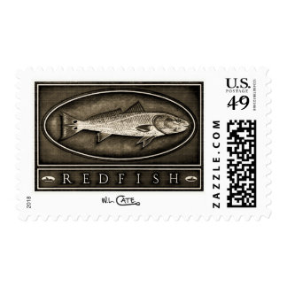 Redfish Vintage B&W U.S.P.S. Postage Stamps