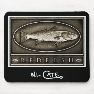 Redfish Vintage Black & White Mouse Pads