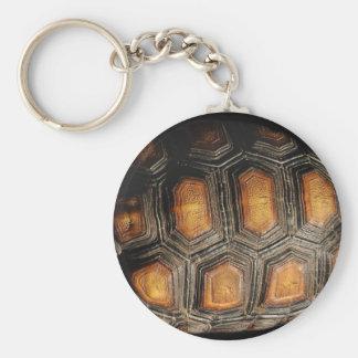 Redfoot Tortoise Shell Keychain