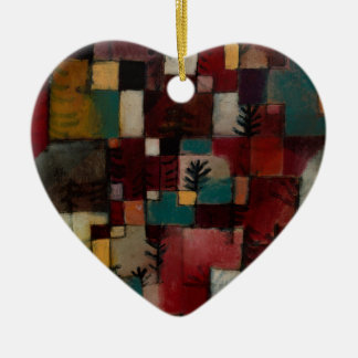 Redgreen and Violet-yellow Rhythms by Paul Klee Ceramic Ornament
