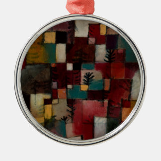 Redgreen and Violet-yellow Rhythms by Paul Klee Metal Ornament