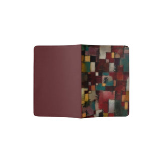 Redgreen and Violet-yellow Rhythms by Paul Klee Passport Holder