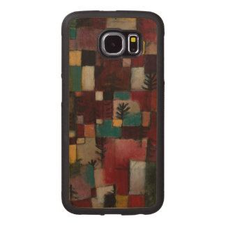 Redgreen and Violet-yellow Rhythms by Paul Klee Wood Phone Case