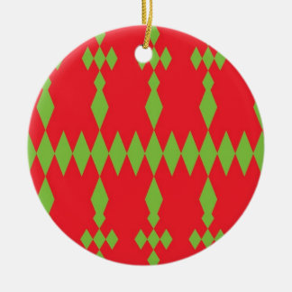 redgreen ceramic ornament