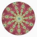 Redgreen Star Classic Round Sticker