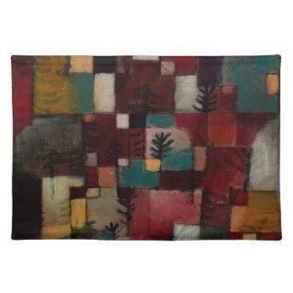 Redgreen y ritmos Violeta-amarillos de Paul Klee Mantel