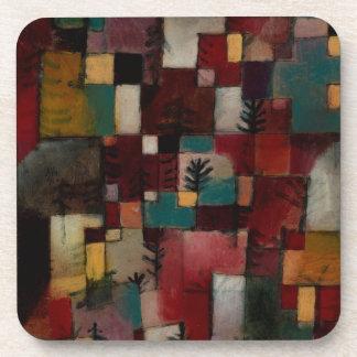 Redgreen y ritmos Violeta-amarillos de Paul Klee Posavasos