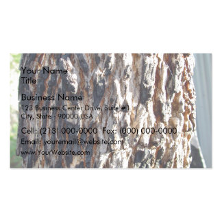 Redgum tree bark business card
