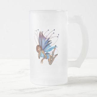 Redhead 3D Pixie - Purple & Blue Mugs