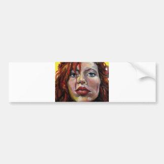 Redhead, a self portrait bumper sticker