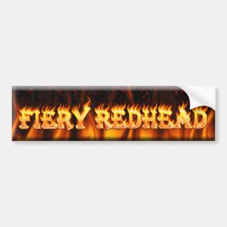 redhead ardiente pegatina para auto