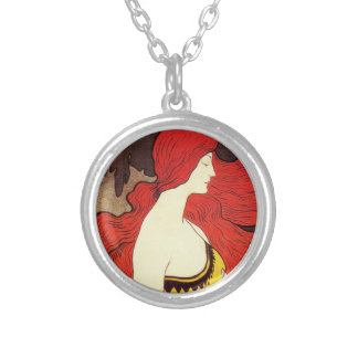 Redhead Beauty Necklace Round Pendant