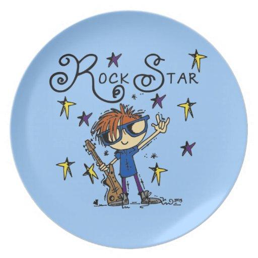 Redhead Boy Rock Star Dinner Plate