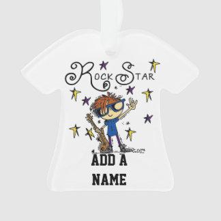 Redhead Boy Rock Star Ornament