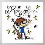 Redhead Boy Rock Star Print