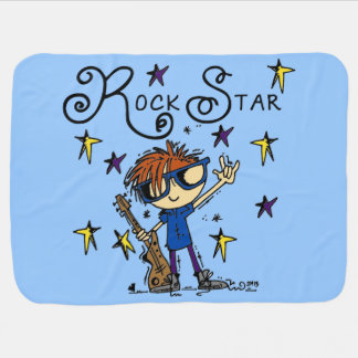 Redhead Boy Rock Star Swaddle Blanket
